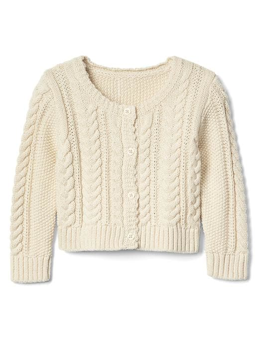 4065a2c860ec Gap Baby Cable Knit Cardigan French Vanilla