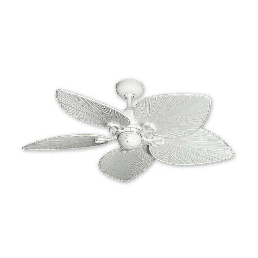 42 Inch Tropical Ceiling Fan Small Pure White Ay By Gulf Coast Fans