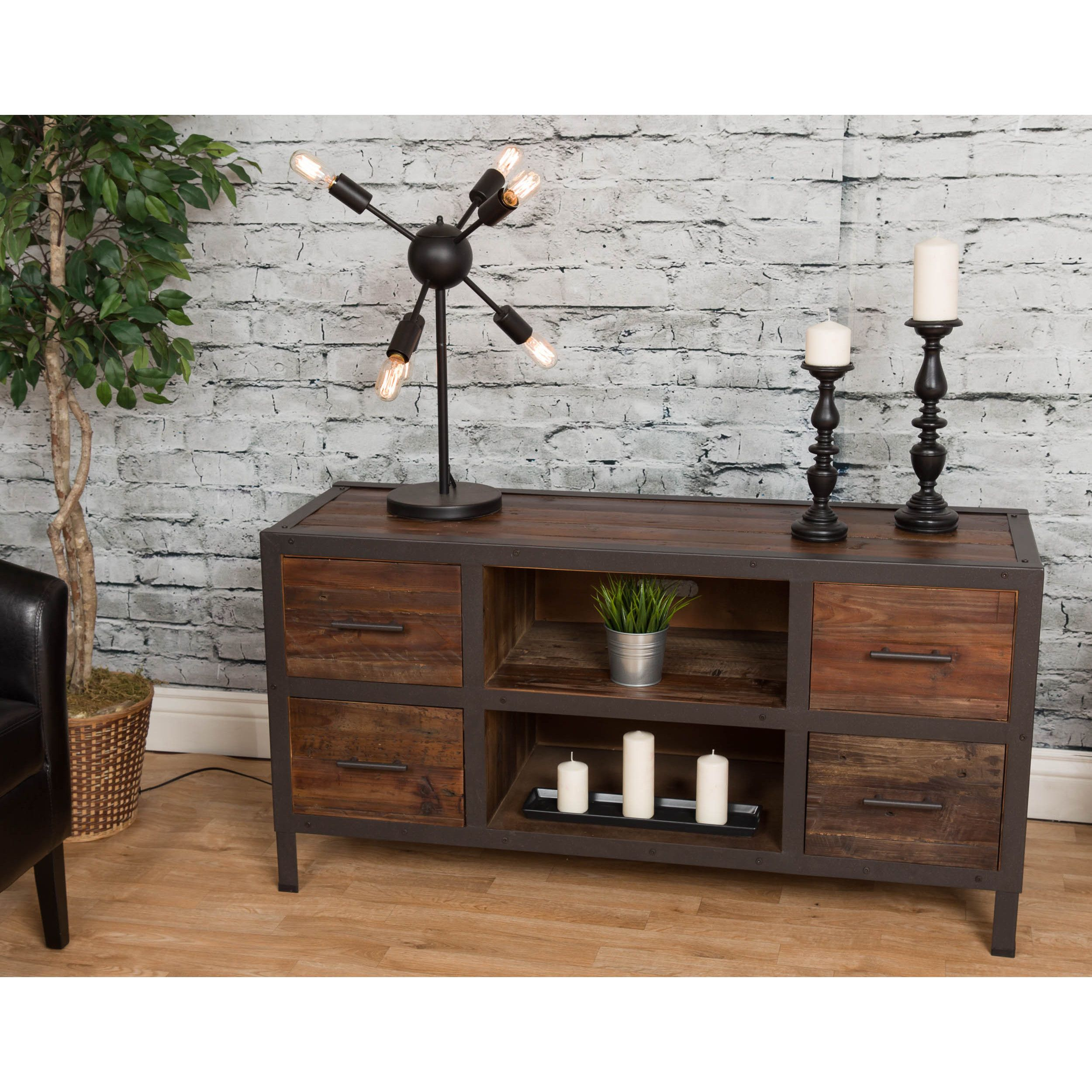 70 Best Online Furniture Stores: Bombay Reclaimed Natural 4-Drawer Media Console