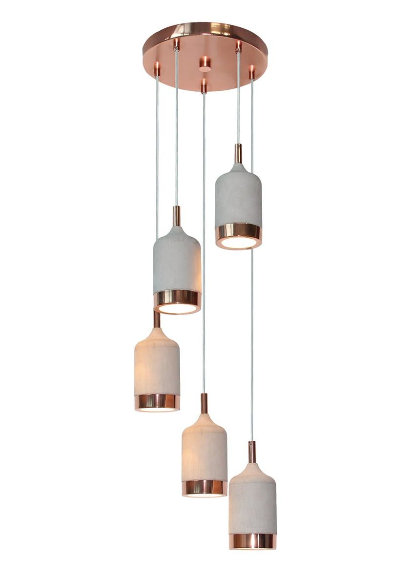 0e8520fd0df0 Put a slightly more refined spin on industrial design with this unique five  cluster cascade pendant light. Providing interesting illumination through.
