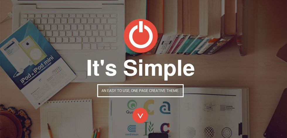 SIMPLE Premium Responsive Parallax OnePage HTML Template Free - Html welcome page template