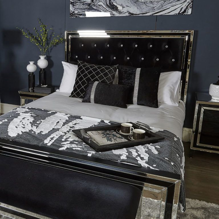 Madison Black Glass 4 Drawer Mirrored in 2020