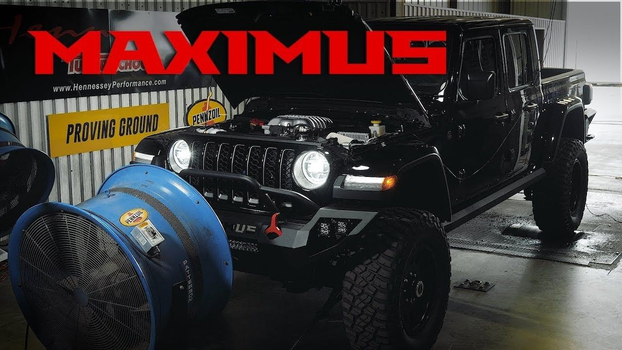 Listen To The Hennessey Performance Hellcat V8 In The 2020 Jeep Gladiator Maximus Jeep Gladiator Jeep Hennessey