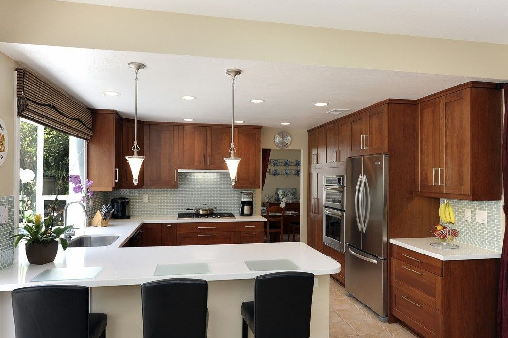 Kitchen Interior Breathtaking U Shaped Kitchen With Breakfast Bar