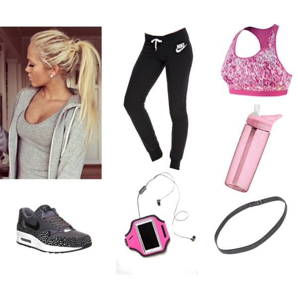 Work out outfit by vibekemarie on Polyvore featuring NIKE, Free People, Sweaty Betty, CamelBak, Summer, outfit, girly and workout