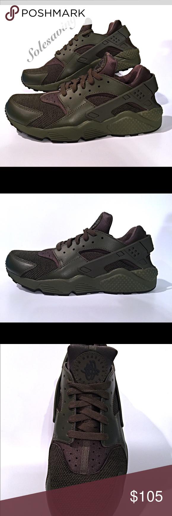 outlet store b4fd0 b8146 Men s Nike Air Huarache Cargo Khaki New W Box Nike Air Huarache Color  Cargo  Khacki Black New with Original Box Men s All Sizes Retail   110.00 Nike  Shoes ...