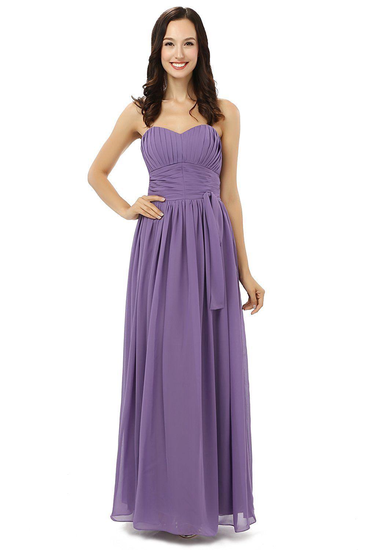 Kelaixiang womenâuacs chiffon purple bridesmaid dresses long for