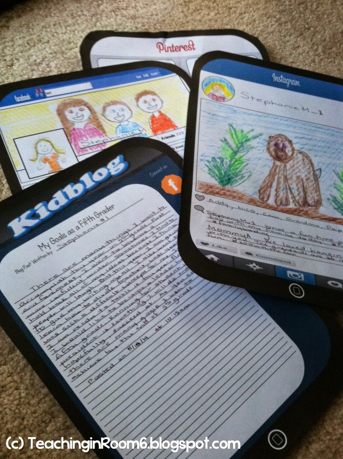 Social Media Themed All About Me Activity To Use The First Few Weeks Of School Free On Blog