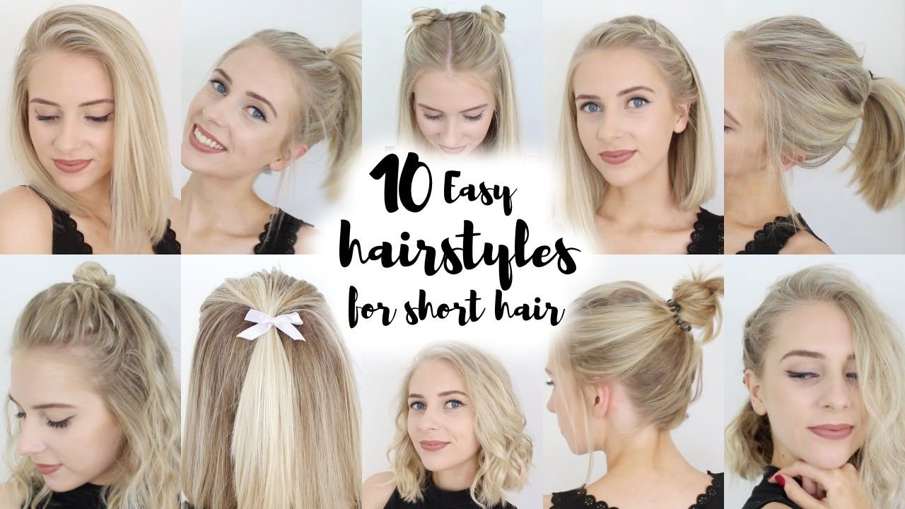 easy hairstyles for short hair hairbeauty pinterest easy