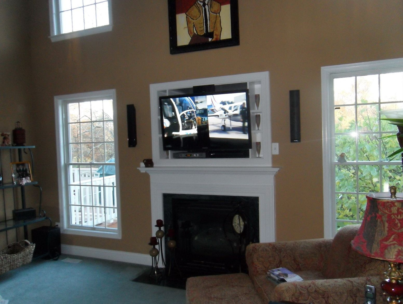 Where To Put Tv Above Fireplace Cable Box Decorating