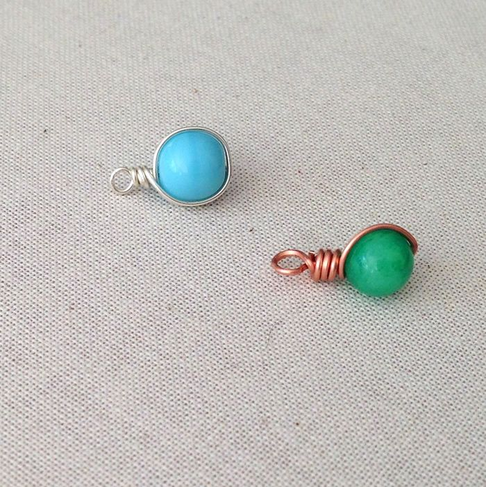 Easy to Make Wire Framed Bead Dangles, Free Step by Step, DIY ...