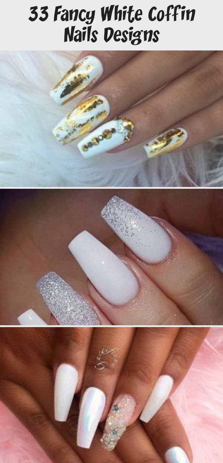 My Blog In 2020 Coffin Nails Designs White Coffin Nails Coffin Nails Glitter