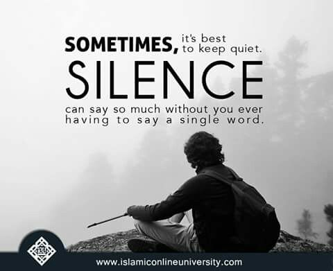 Sometimes Silence Is The Best Answer Wise Words Quotes Sayings Words