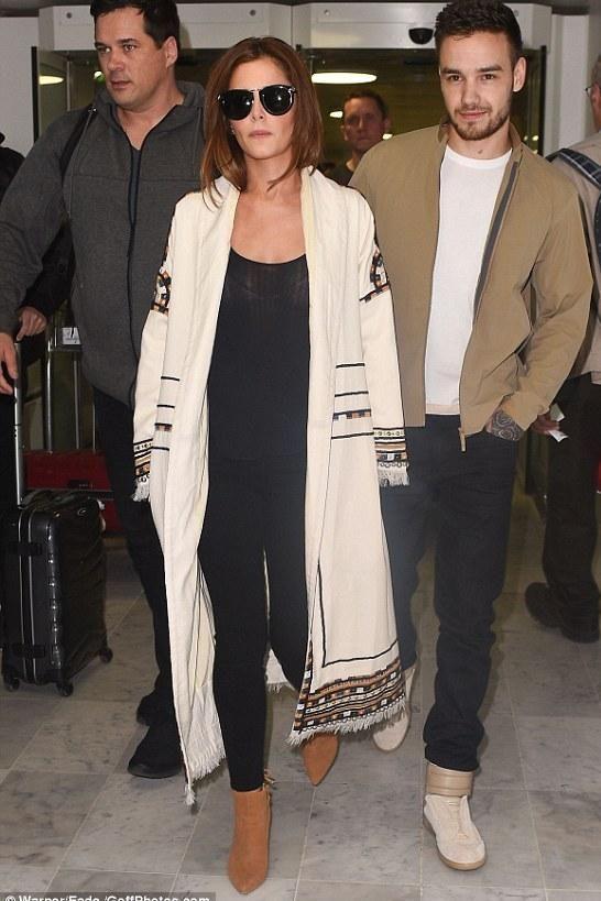 Cheryl Cole wearing Isabel Marant Bering Coat and Stuart Weitzman Grandiose Bootie