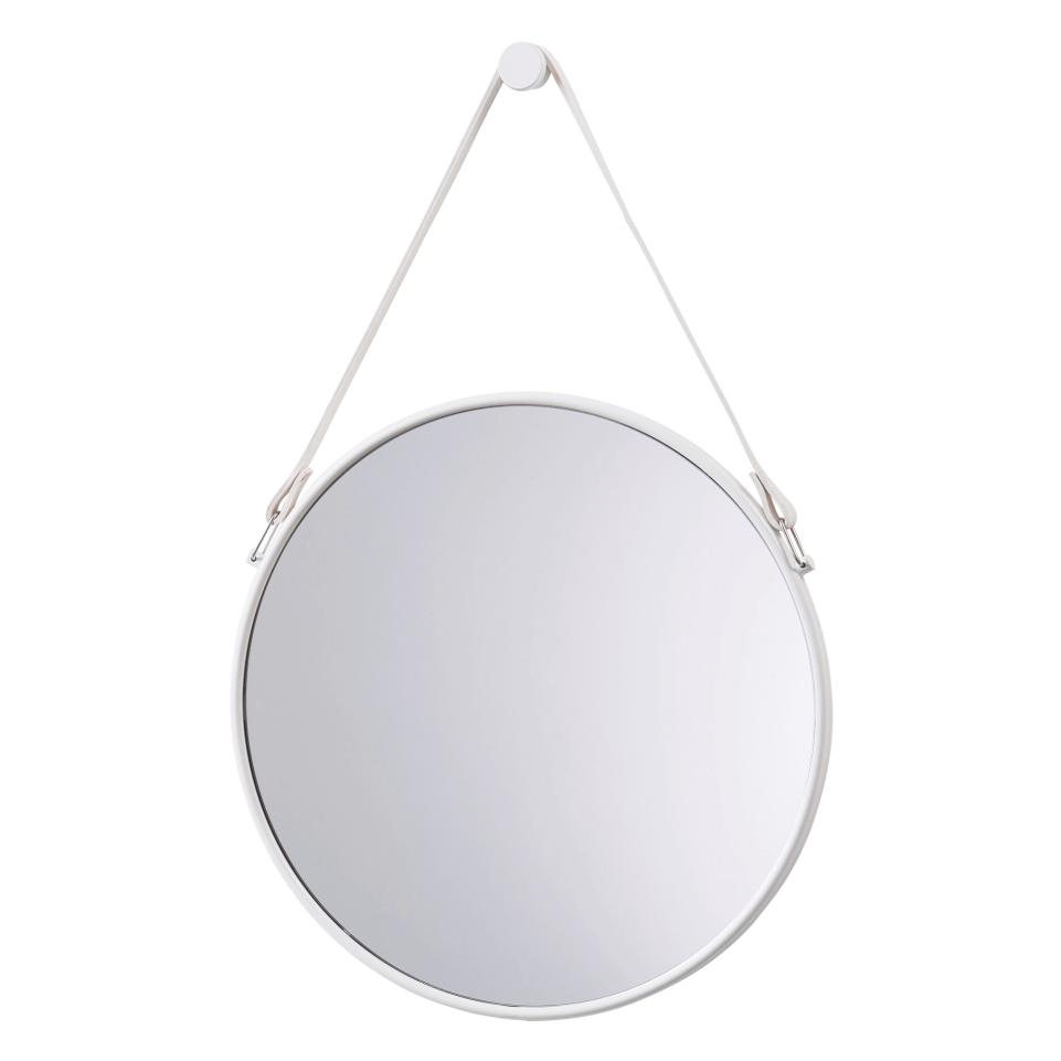 Weisser Wandspiegel Mit Lederband Wandhalterung Spiegel Flurspiegel Dekospiegel Dawelba Wandspiegel Rund Runde Spiegel Wandspiegel