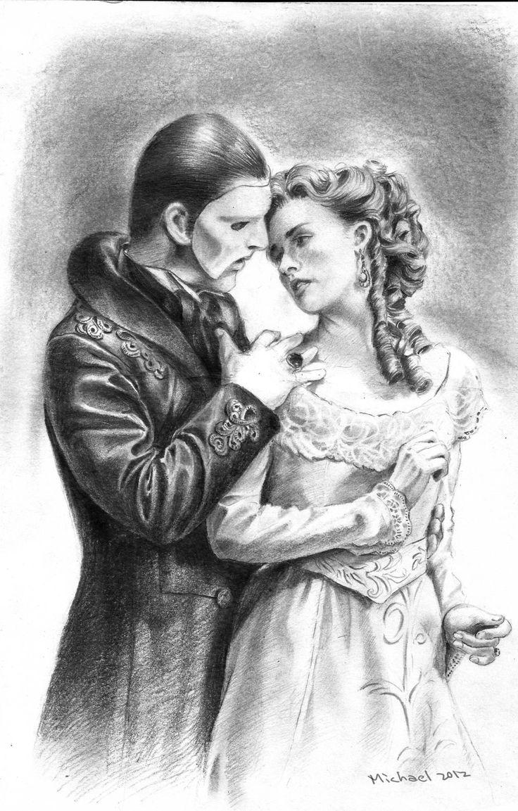 Призрак оперы картинки нарисованные