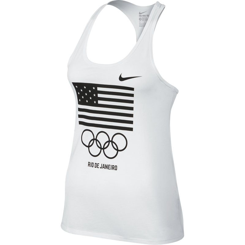 Team USA Nike Women's Flag Rings Tank Top White | Products