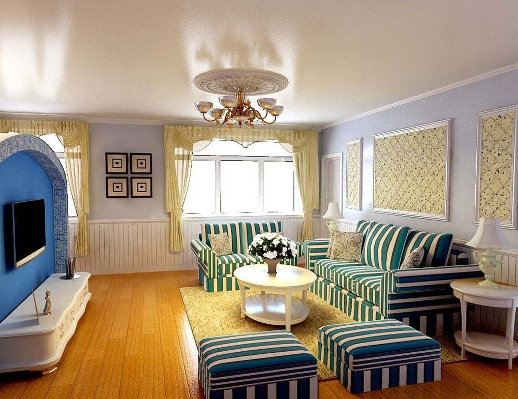 Mediterranean interior design uses the colors and textures of the