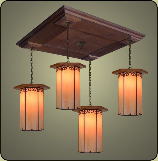 Large Arts And Crafts Pendant 220 Craftsman Pendant Lighting