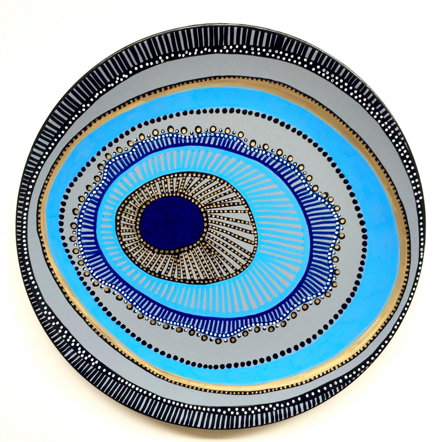 Decorative plate evil eye wall decor original hand painted decorative plate evil eye wall decor original hand painted artwork wall amipublicfo Gallery