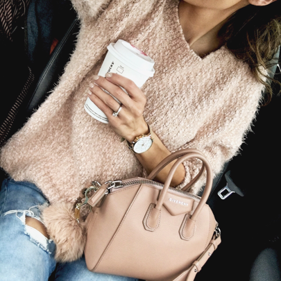All thing neutral. Love these cold morning. Leave a  if your excited for sweater weather! Outfit details here: http://liketk.it/2piai everything but my bag is under $100! @liketoknow.it #liketkit