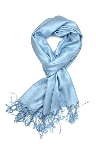 f7f82fa61b2e3 Achillea Large Soft Silky Pashmina Shawl Wrap Scarf in Solid Colors ...