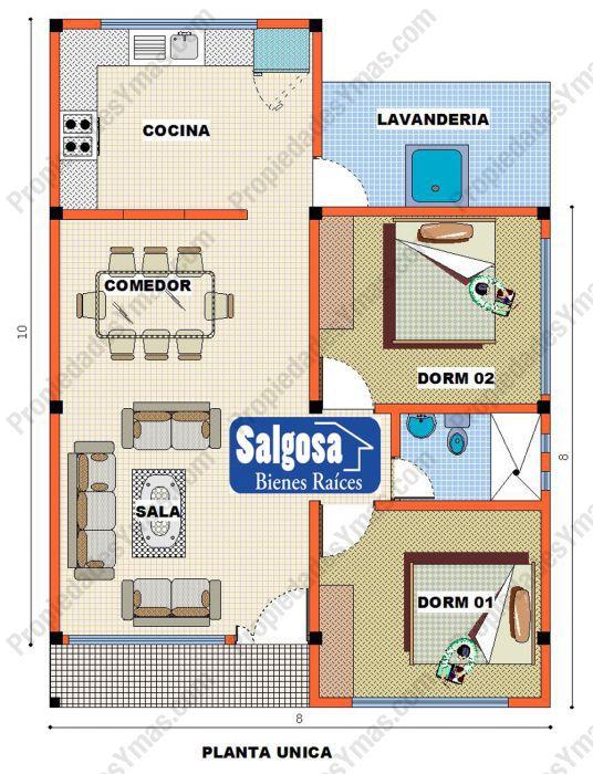 Modelos De Planos Para Casas Modelos Y Planos De Casas Casas De 1 Piso 2 Dormitorios Disenos De Casas Planos De Casas Modelo De Casas Pequenas