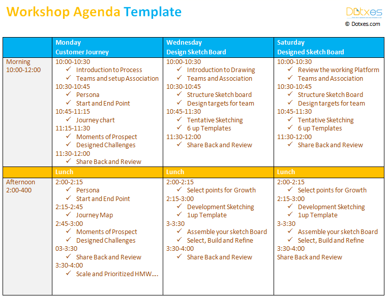 Agenda Design Templates Workshop Agenda Template To Make Your Workshop  Better  Agenda Design Templates