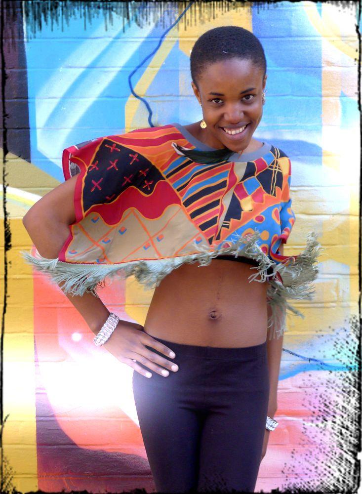 Thulani Abstract print kimono top
