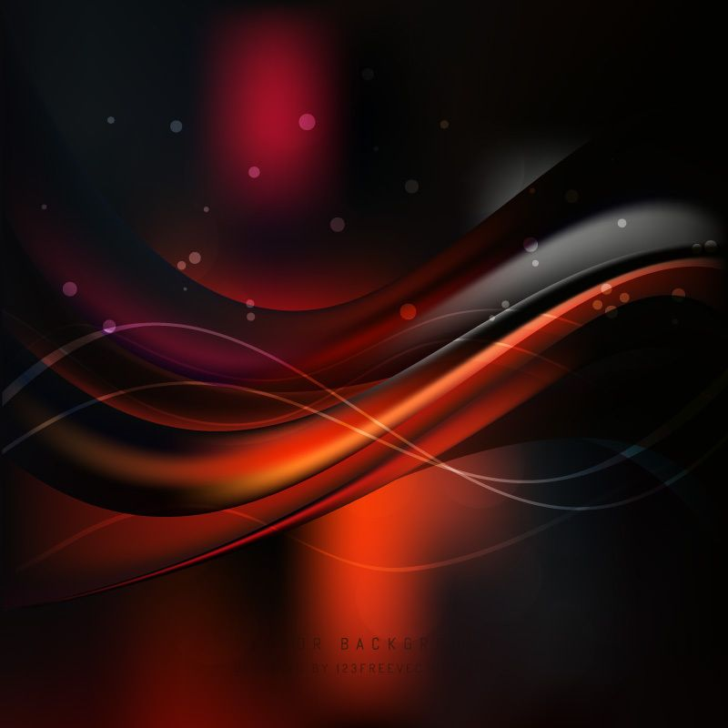 Red Black Wave Background Waves Background Black Background
