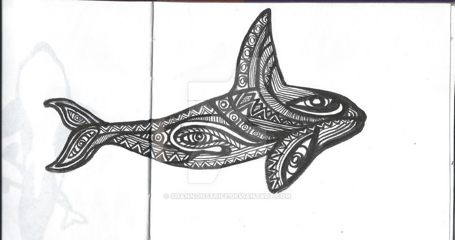 Orca tattoo by ShannonStrife