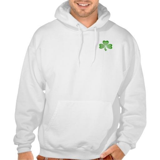 Shamrock front and back hooded sweatshirt