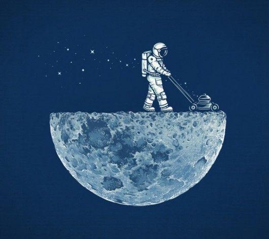 Half-moon, half-man.