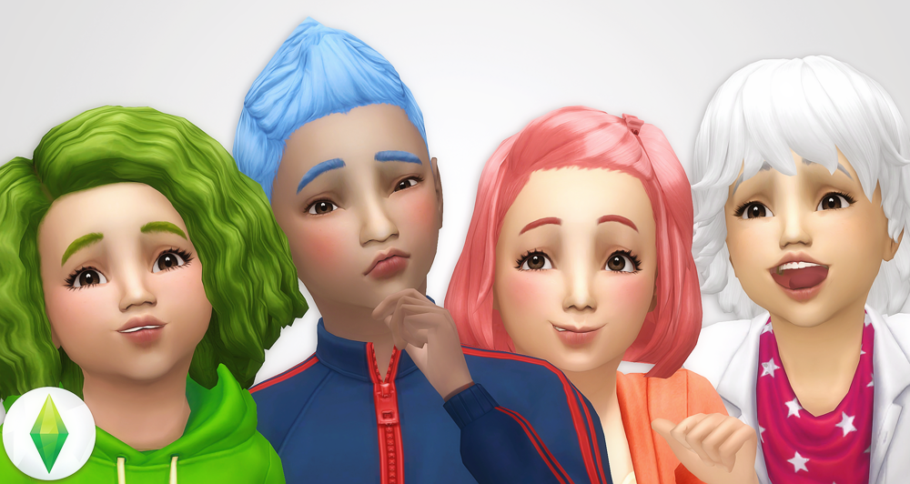 Base Game Hair Recolors Part 2 Toddlers And Children25 Hairs