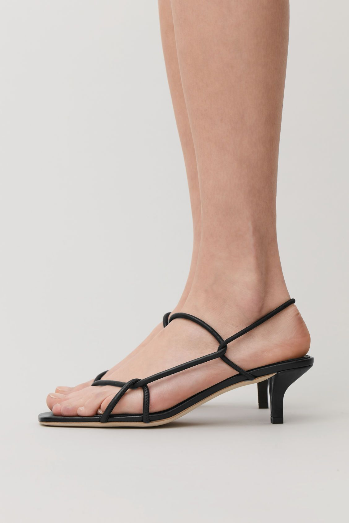 Strappy Leather Kitten Heel Sandals Black Shoes Cos Kitten Heel Sandals Black Sandals Heels Kitten Heels