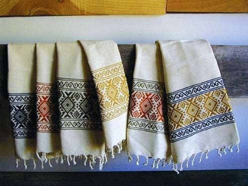 Hand Woven Kitchen Towels   100% Cotton