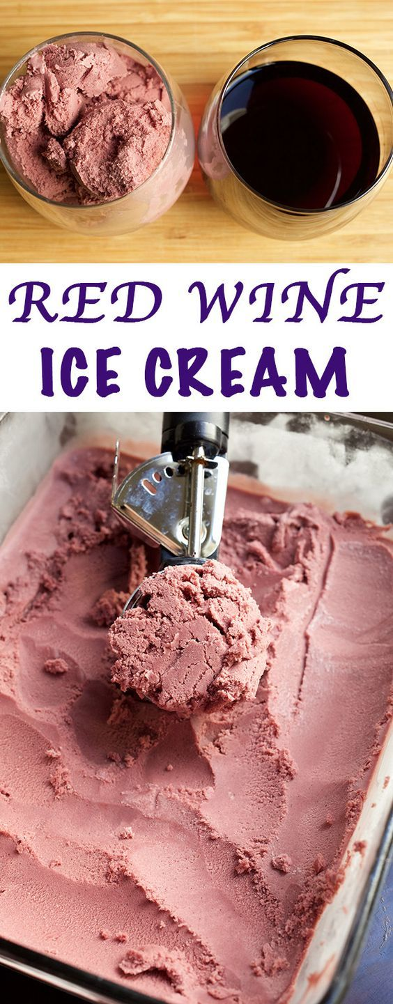 Red Wine Ice Cream Recipe Wine Ice Cream Red Wine Ice Cream Recipe Ice Cream Recipes
