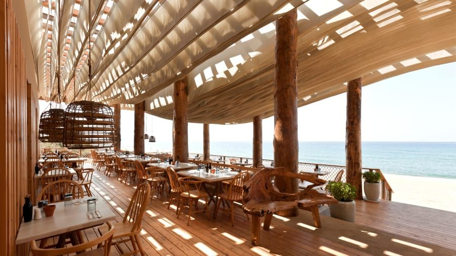 The Greek Beach Bar With An Incredible Moving Roof Bar