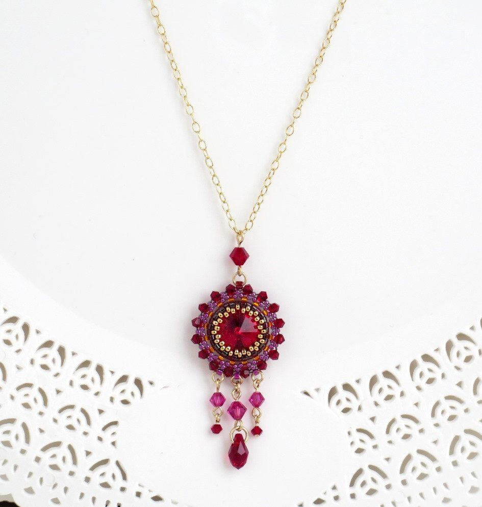 Red pendant necklace chandelier necklace red necklace swarovski red pendant necklace chandelier necklace red necklace swarovski crystal necklace red crystal aloadofball Choice Image