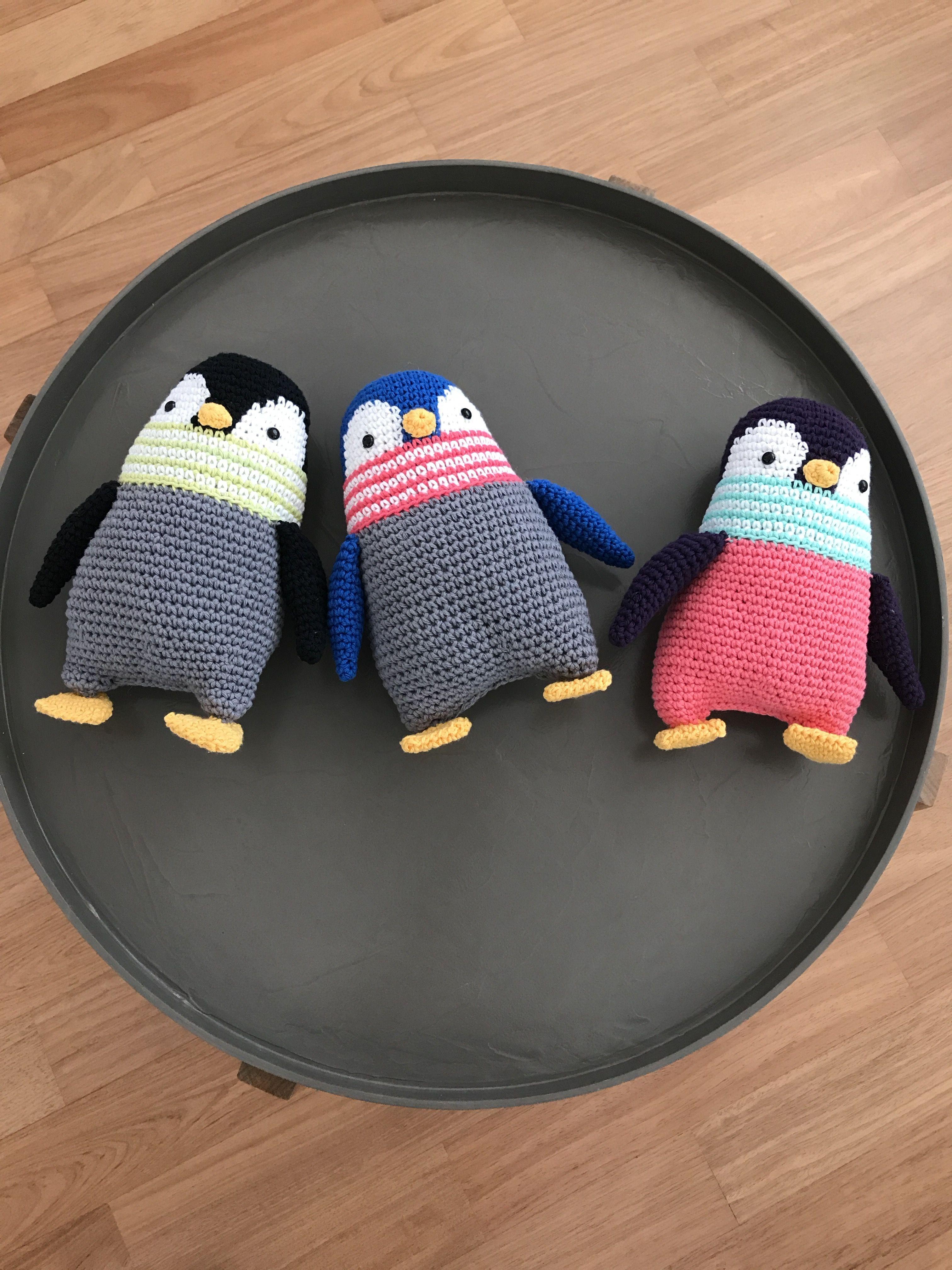 Pingvin Pingviner Hækle Hækling Hæklet Garn Penguin Series
