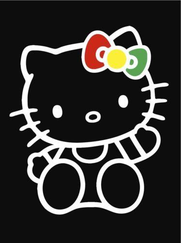 HelloKittyRastaRastafariBowJDMCustomVinylDecalSticker - Hello kitty custom vinyl stickers