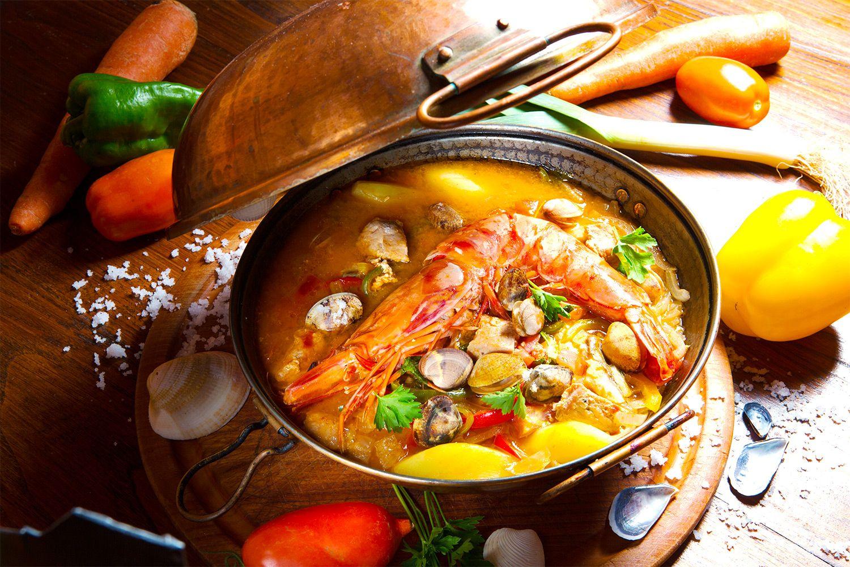 Spezialität in der Quinta das Barradas : Cataplana - der traditionelle portugiesische #Eintopf #portugal #reise #urlaub #kochen #rezept #vamosreisen