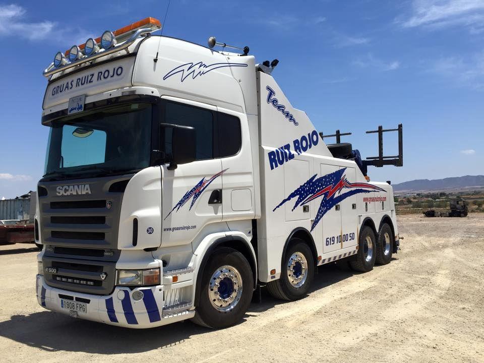 Scania V8 8x4 Gruas Ruiz Rojo Camiones Gruas Camiones Grandes