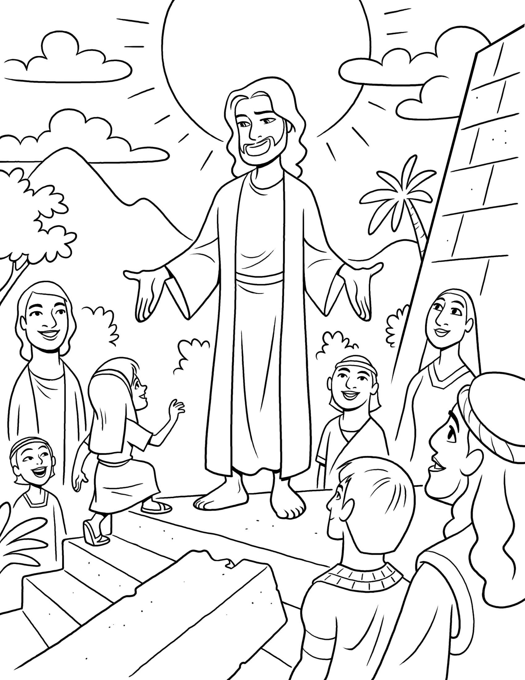 Book of Mormon stories. This is a fun coloring page of Jesus ...