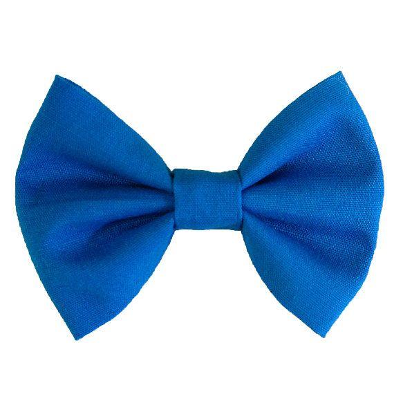 cobalt blue hair bow clip small