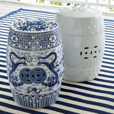 CHEAP TO CHIC: GARDEN STOOLS   THE BOTTOM LINE ON CERAMIC DECORATIVE  OUTDOOR SEATING! | COCOCOZY