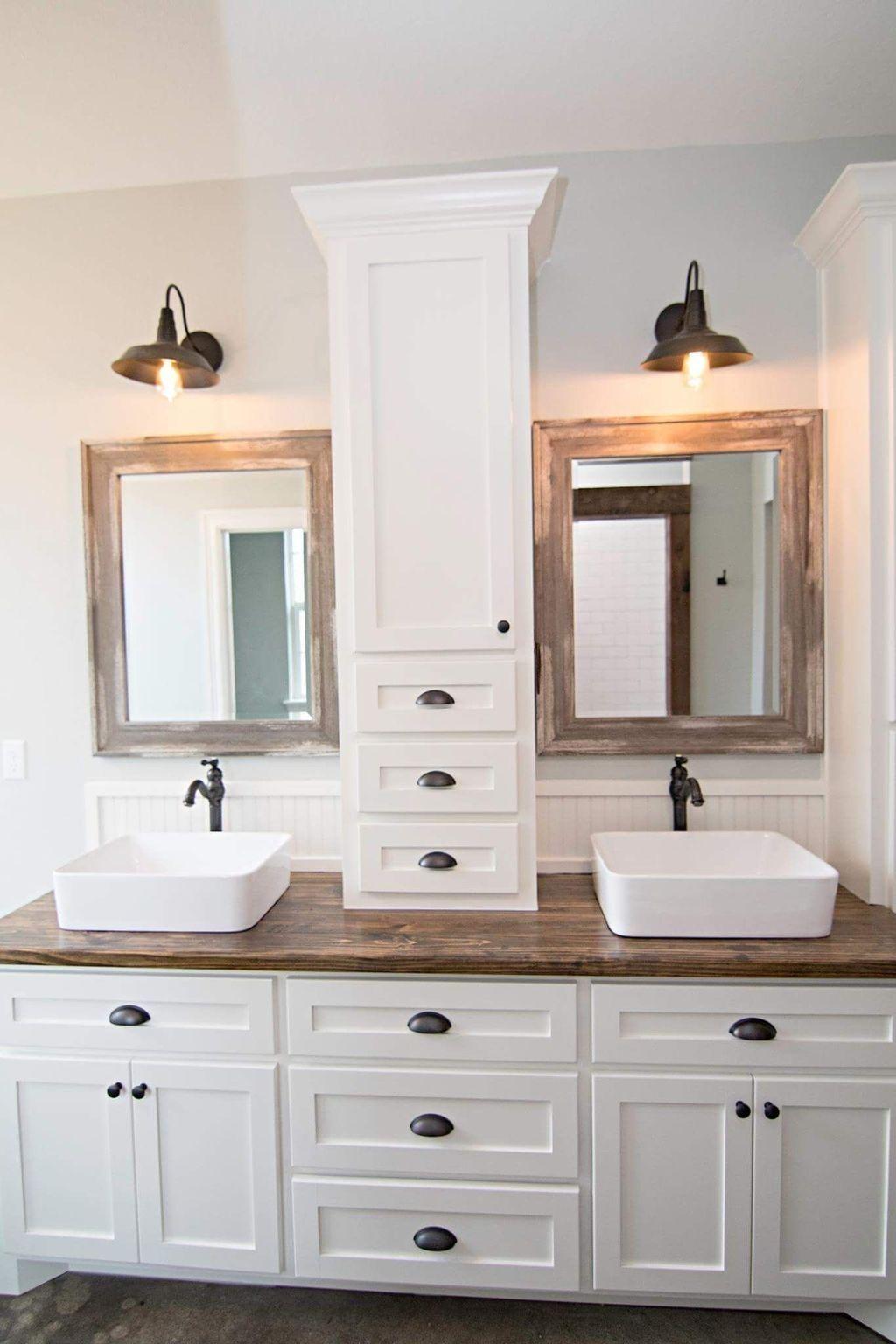 30 Awesome Master Bathroom Remodel Ideas On A Budget Coodecor Modern Farmhouse Bathroom Bathroom Vanity Designs Bathroom Remodel Master
