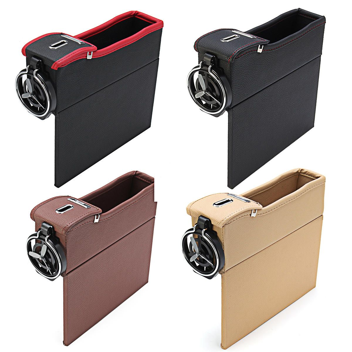 Leather Car Storage Bag Box Money Pot Beverage Holder Car