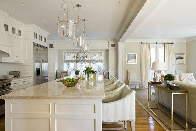 Exemple d\u0027aménagement cuisine et salon à aire ouverte Décoration