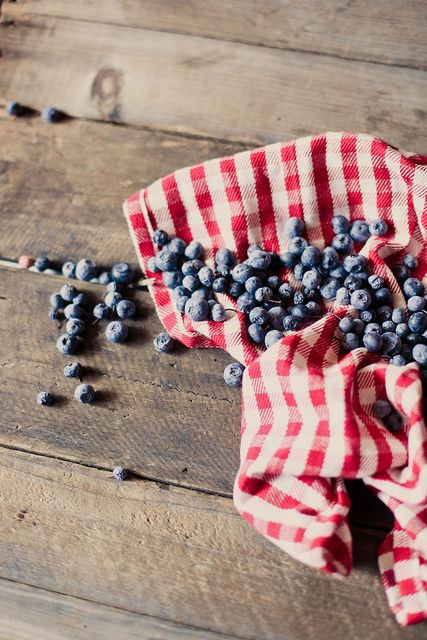 red, white and blueberries